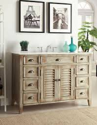 Black Distressed Bathroom Vanity by Bathroom Ideas Teak Wood Bathroom Vanity In Distressed Style