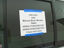 amazon com 1999 2013 gmc sierra c k 1500 2500 3500 pickup sliding