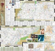 State Of Tennessee Map by Large Detailed Tourist Map Of Tennessee With Cities And Towns