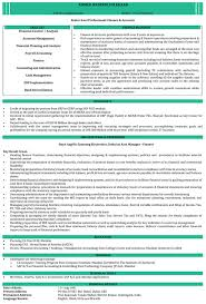 Accounting Resume Examples by Ca Resume Samples Chartered Accountant Resume Format Naukri Com