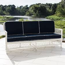 Resin Wicker Patio Furniture Sets - everglades 7 piece white resin wicker patio deep seating set by