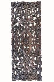 Home Decor Walls Floral Wood Carved Wall Panel Asian Home Decor Wall Hanging