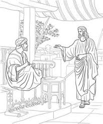 knocking at the door coloring page coloring pages