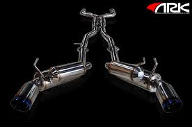 nissan 370z ark exhaust ark performance grip true dual exhaust detailed full pictures