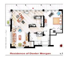 floorplan of dexter morgan u0027s apartment v 1 by nikneuk on deviantart