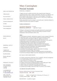 Personal Assistant Cv Sample Personal Assistant Resume
