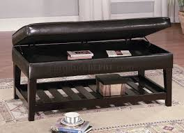 modern ottoman table furniture leather top coffee table ideas leather top table