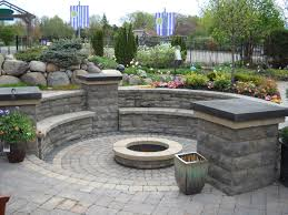 Backyard Creations Frederick Md by Brick Patio With Fire Pit Design Ideas Fire Pit A Water