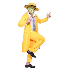 jim carrey the mask fancy dress costume yellow gangster zoot suit