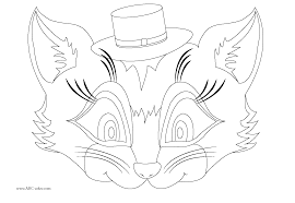 Halloween Masks Printables Cat Mask Coloring Page Eson Me