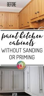 How To Paint Kitchen Cabinets No PaintingSanding - Can you paint your kitchen cabinets