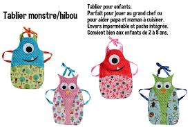 tablier de cuisine personnalisable agrandir l u0027image de tablier cuisine monstre couture pinterest