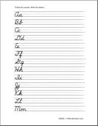 Handwriting months of the year worksheet