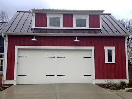front garage landscaping design ideas house decoration modern farmhouse architecture with large wooden garage doors image