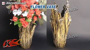 diy up drip flower vase from waste cloth how to make jk arts