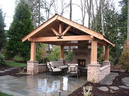 Outdoor Patio With Roof by Covered Patios Enhance Outdoor Living Malone U0027s Landscape