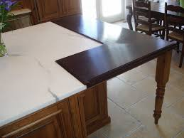 Marble Island Kitchen Wide Plank Wood Countertop Set Into Marble Island Brooks Custom