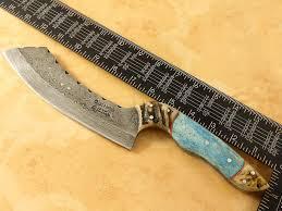 damascus chef knives custom made damascus steel full tang