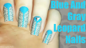 Blue Leopard Print by Nail Art Tutorial How To Paint Leopard Print Gray And Blue