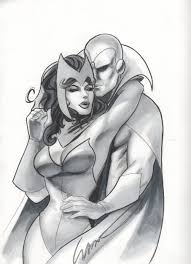 scarlet witch costume comics scarlet witch and vision by john watson in jatinder ghataora u0027s