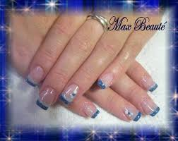blue nails with white tips how you can do it at home pictures
