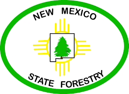 New Mexico Wildfire Map by Nm State Forestry Logo