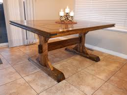 small rectangle custom diy distressed farmhouse dining table with