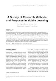 a survey of research methods and purposes in mobile learning pdf