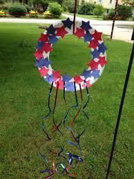 kids craft patriotic wreath