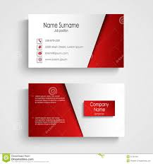 Business Card Eps Template Modern Light Red Business Card Template Stock Vector Image 51334184