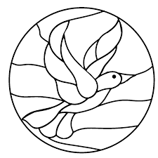 best mandalas stained glass coloring pages for kids womanmate com