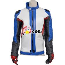 Halloween Costume Leather Jacket Game Soldier 76 Leather Jacket Superhero Soldier 76 Cosplay