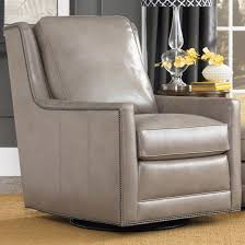 Club Swivel Chair Transitional Swivel Chair With Nailhead Trim By Smith Brothers