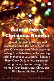 what is thanksgiving prayer st andrew u0027s christmas novena begins november 30th