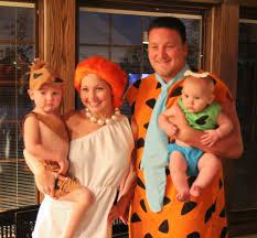 Family Of 3 Halloween Costume by The Rollins Ruckus Meet The Flintstones