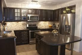Kitchen Cabinets Mahogany U Shape Kitchen Decoration Using Solid Mahogany Wood Glass Front