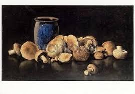 Scholderer Otto Franz von Stillleben mit Pilzen und blauer Vase ... - 6532