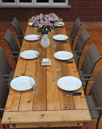 Building Outdoor Wood Furniture by Best 20 Outdoor Table Plans Ideas On Pinterest U2014no Signup Required