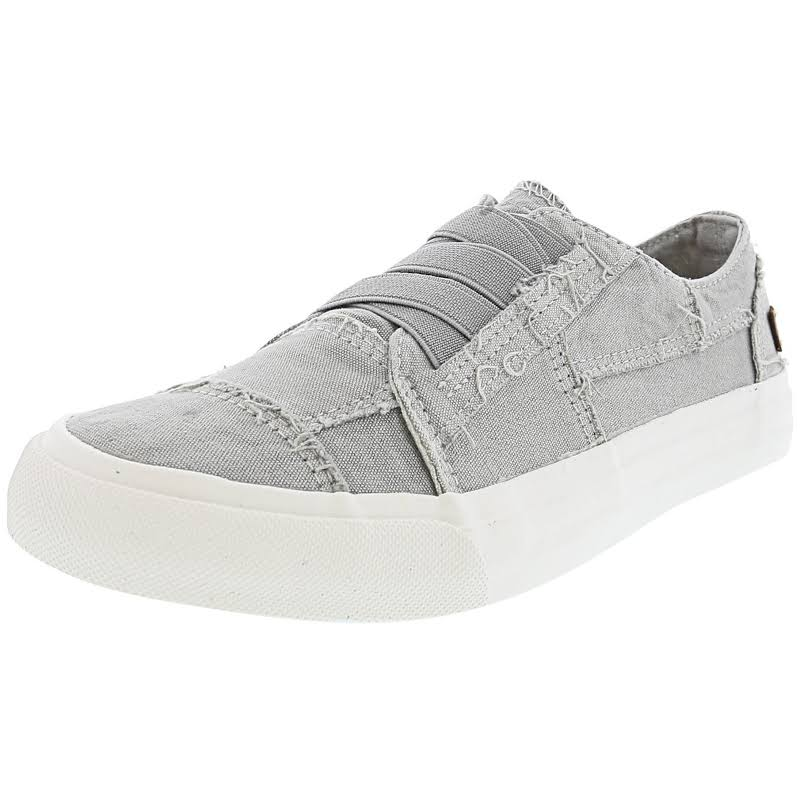 Blowfish Marley Sweet Grey Color Washed Canvas Ankle-High Slip-On Shoes 6.5M