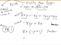 Factoring Trinomials with Leading Coefficients Videos for High