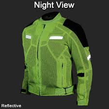 reflective bike jacket high visibility mesh motorcycle jacket with insulated liner and ce
