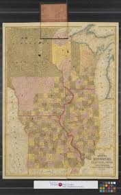 Map Of Wisconsin And Illinois by Map Of The States Of Missouri Illinois Iowa And Wisconsin The