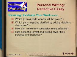 Personal development plan reflective essay