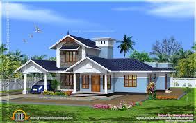 kerala model villa with open courtyard kerala home design and