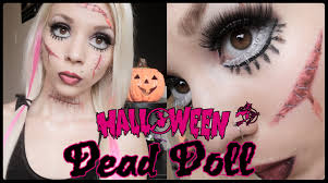 broken doll halloween costume living dead doll halloween makeup youtube