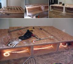 look diy platform bed with storage platform beds construction