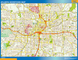 Grant Park Chicago Map by Atlanta Downtown Map Netmaps Usa Wall Maps Shop Online