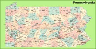 Map Of West Virginia Counties Road Map Of Pennsylvania With Cities