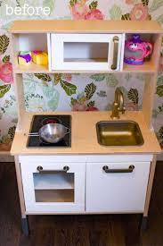 easy ikea duktig play kitchen makeover food fun kids