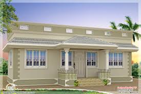 front elevation of single floor house kerala also home design and